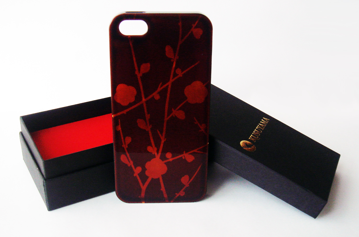 Maki-e iPhone 5 Cover Case Made in Japan - Eda Ume (Plum